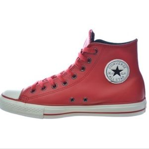 New Chuck Taylor  Hi Leather Sneakers Blood Red